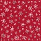 Serwetki świąteczne STARS EVERYWHERE czerwone 33 x 33 cm 20 szt.