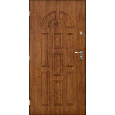 Drzwi zewnętrzne stalowe  VALENCIA Złoty dąb 90 Lewe