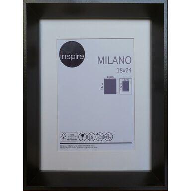 Ramka na zdjęcia Milano 18 x 24 cm czarna MDF Inspire