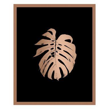 Obraz MODERNPIK GOLD MONSTERA 27 x 33 cm