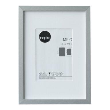 Ramka na zdjęcia Milo 21 x 29.7 cm srebrna MDF Inspire