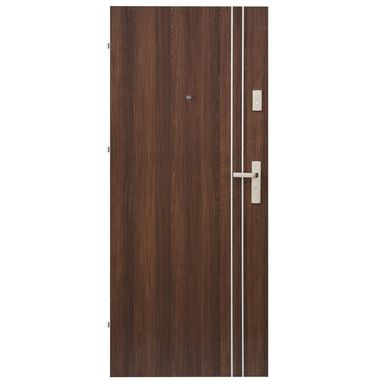 Drzwi wejściowe IRYD 01 Orzech premium 90 Lewe DOMIDOR