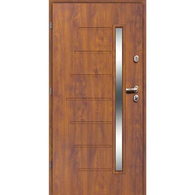 Drzwi wejściowe HEL Złoty dąb 90 Lewe LOXA