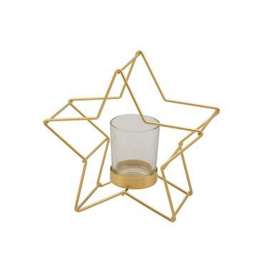 Świecznik gwiazda 17 cm 1 szt. metalowa