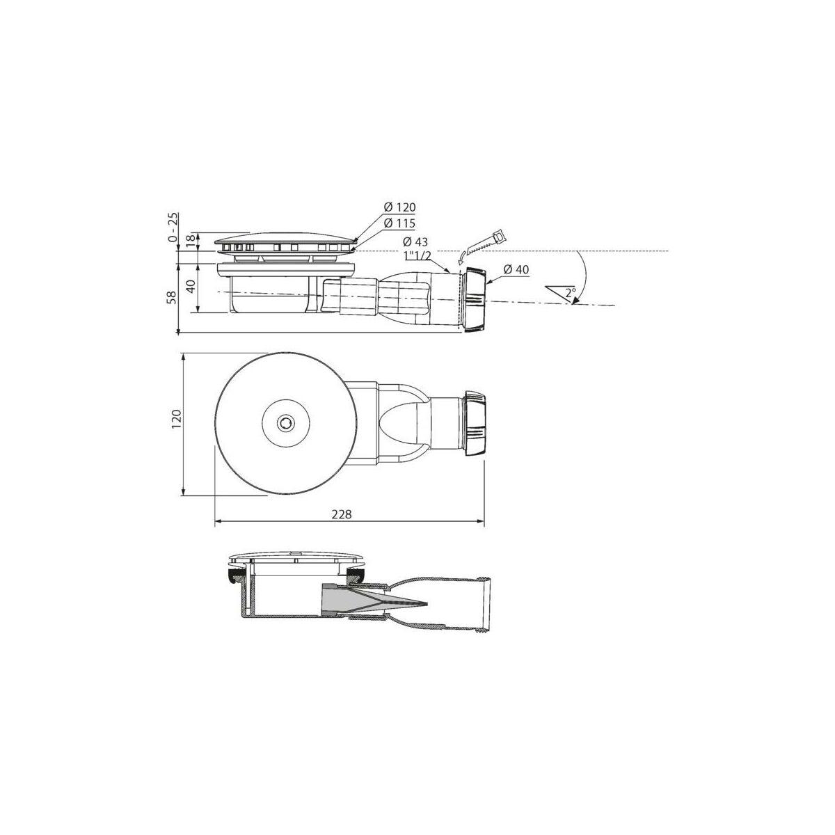 Syfon Brodzikowy 90 Mm Slim Wirquin Syfony W Atrakcyjnej Cenie W Sklepach Leroy Merlin