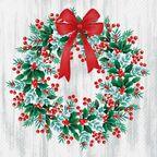 Serwetki świąteczne WREATH WITH ROWAN 33 x 33 cm 20 szt.