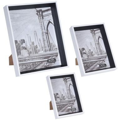 Zestaw 3 ramek na zdjęcia mix kolorów i rozmiarów (10 x 15 cm; 13 x 18 cm; 20 x 25 cm)