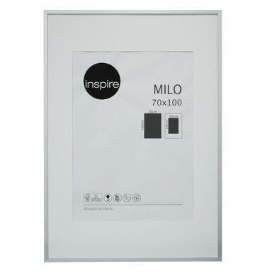Ramka na zdjęcia Milo 70 x 100 cm srebrna MDF Inspire