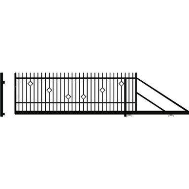 Brama przesuwna RITA II 410 x 144 cm Prawa POLARGOS