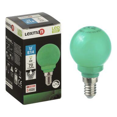 Żarówka dekoracyjna LED E14 (230 V) 3 W 70 lm zielona LEXMAN