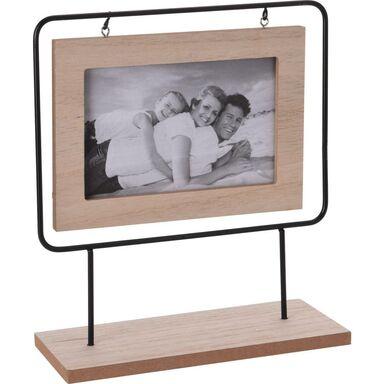 Ramka na zdjęcia na drewnianym stojaku 10 x 15 cm