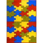 Dywan dziecięcy PUZZLE multikolor 240 x 330 cm WELTOM