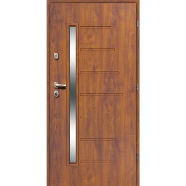 Drzwi wejściowe HEL Złoty dąb 90 Prawe LOXA