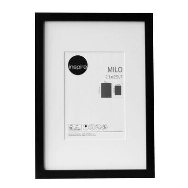Ramka na zdjęcia Milo 21 x 29.7 cm czarna MDF Inspire