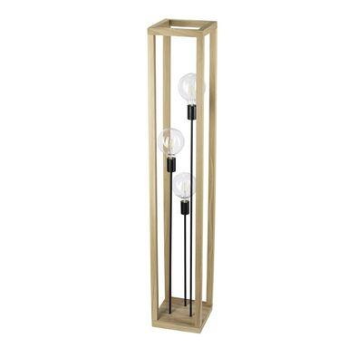 Lampa podłogowa KAGO drewniana 3 x E27 SPOT-LIGHT