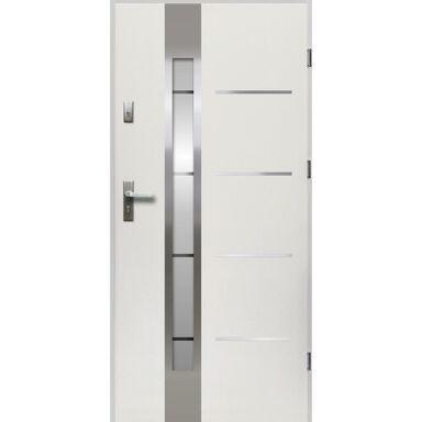Drzwi zewnętrzne stalowe ADRIANA Białe 90 Prawe OK DOORS TRENDLINE