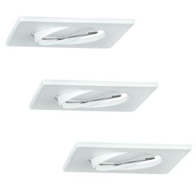 Zestaw opraw stropowych oczek 3 szt. OLIN białe kwadratowe LED POLUX