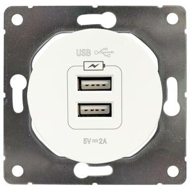 Gniazdo 2x USB SEU1028W  biały  DPM