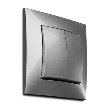 Włącznik podwójny CARLA  Srebrny  ELEKTRO-PLAST