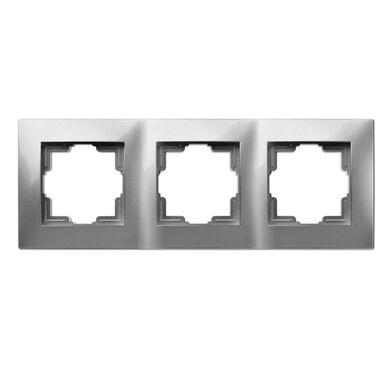 Ramka potrójna CARLA  srebrny  ELEKTRO - PLAST