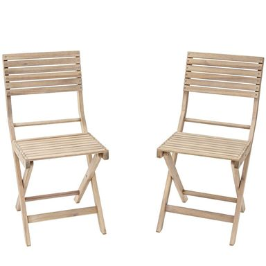Krzesło ogrodowe 2 szt. drewniane SOLIS NATERIAL