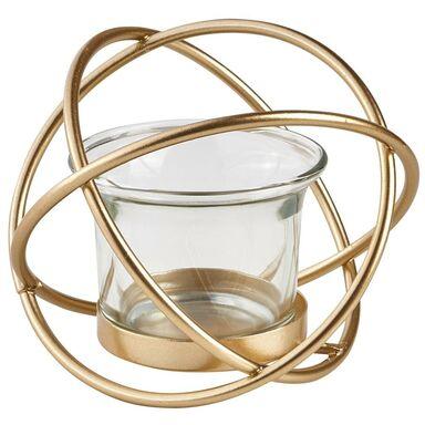 Lampion metalowy na tealighta Gwiazda złoty