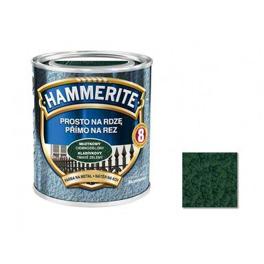 Farba antykorozyjna PROSTO NA RDZĘ 0.7 l Ciemnozielony Młotkowy HAMMERITE