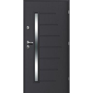 Drzwi wejściowe HEL Antracyt 90 Prawe LOXA