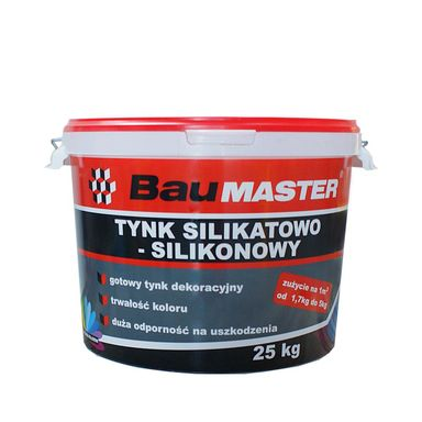 Tynk silikatowo-silikonowy K742 25 kg BAUMASTER