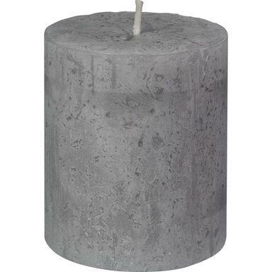 Świeca pieńkowa Rustic jasnoszara wys. 8 cm Bolsius
