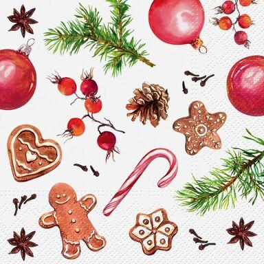 Serwetki świąteczne HOMEMADE SWEETS 33 x 33 cm 20 szt.