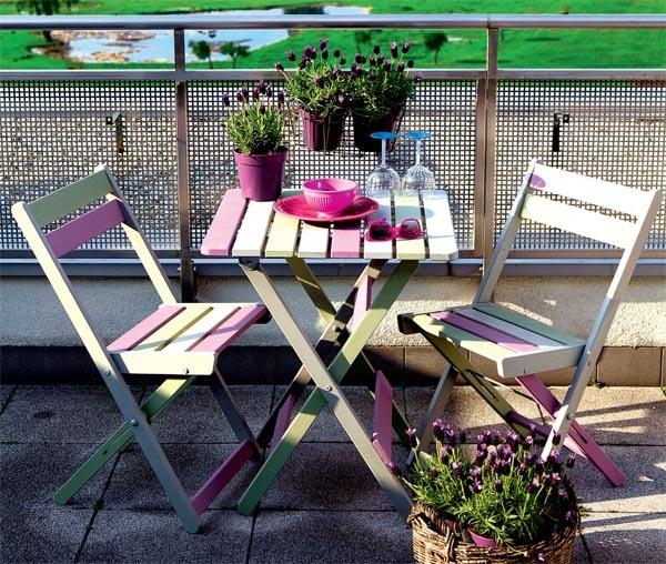 Kolorowe meble na balkon  porady Leroy Merlin