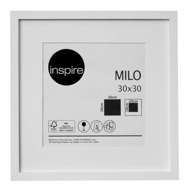 Ramka na zdjęcia Milo 30 x 30 cm biała MDF Inspire