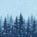 Serwetki świąteczne MAGIC NIGHT 33 x 33 cm 20 szt.