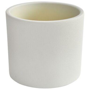 Osłonka ceramiczna 28 cm biała WALEC