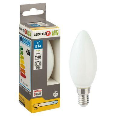 Żarówka LED E14 (230 V) 2 W 249 lm Ciepła biel LEXMAN