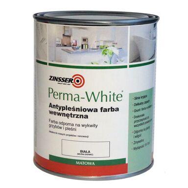 Farba chroniąca przed pleśnią PERMA WHITE 1 l Biała Matowa ZINSSER