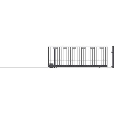 Brama przesuwna bez przeciwwagi z automatem ARGOS 2 400 x 152 cm lewa POLARGOS