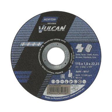 Tarcza do cięcia T41 115 x 1.0 x 22.23 STAL NORTON VULCAN
