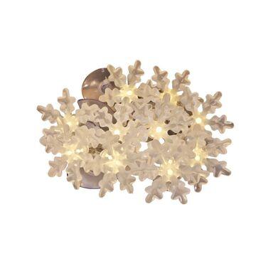 Lampki choinkowe ŚNIEŻYNKI dł. 180 cm 10 LED ciepła biel CORTINA
