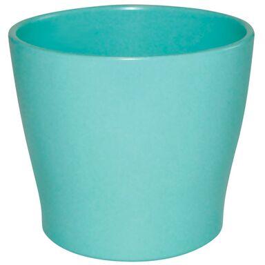 Osłonka ceramiczna 16 cm turkusowa TOSKANIA CERAMIK