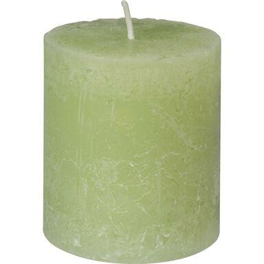 Świeca pieńkowa RUSTIC zielona wys. 8 cm BOLSIUS