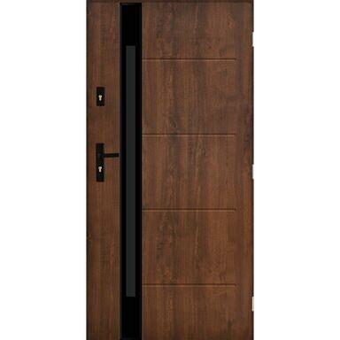 Drzwi zewnętrzne stalowe SAINT TROPEZ Orzech 90 Prawe PANTOR