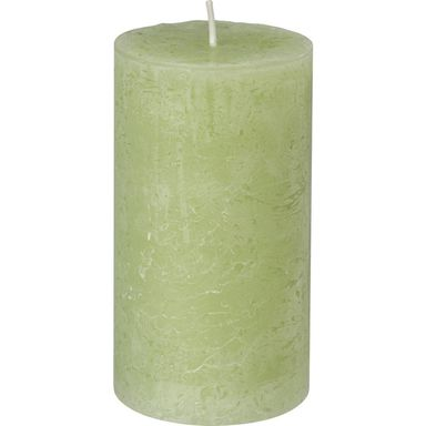 Świeca pieńkowa Rustic zielona wys. 13 cm Bolsius