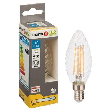 Żarówka LED E14 (230 V) 4.5 W 470 lm Ciepła biel LEXMAN