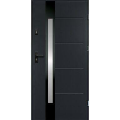 Drzwi zewnętrzne stalowe  ARIADNA Antracyt 90 Prawe