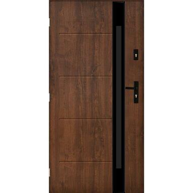Drzwi zewnętrzne stalowe SAINT TROPEZ Orzech 90 Lewe PANTOR