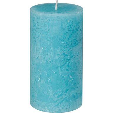 Świeca pieńkowa RUSTIC aqua wys. 13 cm BOLSIUS