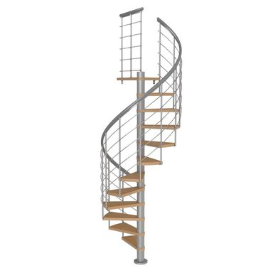 Schody spiralne MONTREAL Style Buk fornirowany 120 cm DOLLE