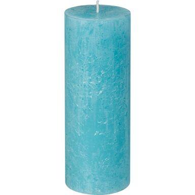 Świeca pieńkowa RUSTIC aqua wys. 19 cm BOLSIUS